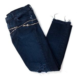 7 For All Mankind Jeans - 7 For All Mankind Gwenevere Studded Step Hem Jeans